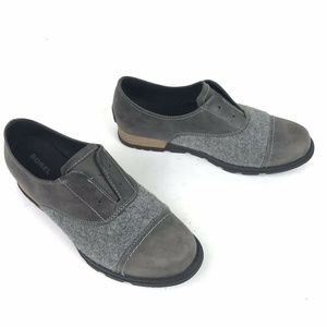 Sorel Major Oxford Shoes Gray Size 8.5 Wool Flats